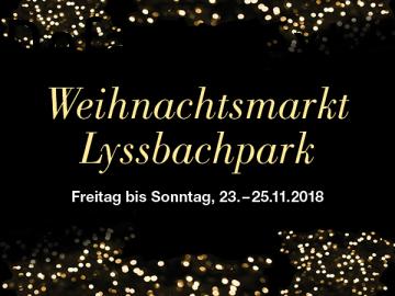 Weihnachtsmarkt Lyssbachpark